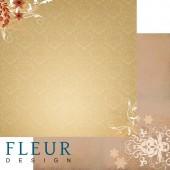 """Бумага для скрапбукинга двухсторонняя FD1001807 """"Ожидание праздника. Тайные желания"""", Fleur design, 30х30 см"""