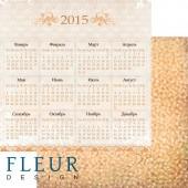 """Бумага для скрапбукинга двухсторонняя FD1001808 """"Ожидание праздника. Календарь"""", Fleur design, 30х30 см"""