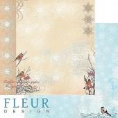 """Бумага для скрапбукинга двухсторонняя FD1001701 """"Зимние чудеса. Зимнее утро"""", Fleur design, 30х30 см"""