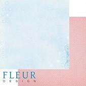 """Бумага для скрапбукинга двухсторонняя FD1001703 """"Зимние чудеса. Хрустальное озеро"""", Fleur design, 30х30 см"""