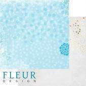 """Бумага для скрапбукинга двухсторонняя FD1001704 """"Зимние чудеса. Снегопад"""", Fleur design, 30х30 см"""