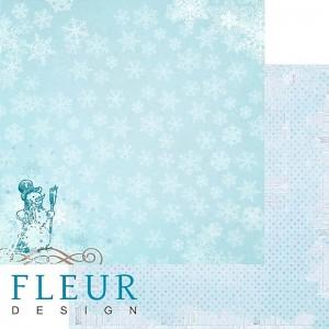 """Бумага для скрапбукинга двухсторонняя FD1001705 """"Зимние чудеса. Забавные игры"""", Fleur design, 30х30 см"""