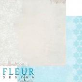 """Бумага для скрапбукинга двухсторонняя FD1001706 """"Зимние чудеса. Снежные узоры"""", Fleur design, 30х30 см"""