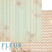 """Бумага для скрапбукинга двухсторонняя FD1001708 """"Зимние чудеса. Золотистая дымка"""", Fleur design, 30х30 см"""