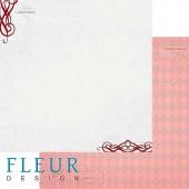 """Бумага для скрапбукинга двухсторонняя FD1001709 """"Зимние чудеса. Стужа"""", Fleur design, 30х30 см"""