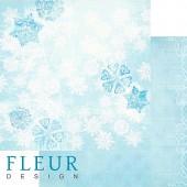 """Бумага для скрапбукинга двухсторонняя FD1001710 """"Зимние чудеса. Искрящийся снег"""", Fleur design, 30х30 см"""
