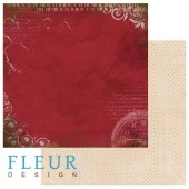 """Бумага для скрапбукинга двухсторонняя FD1001104 """"Течение времени. Эпоха"""", 30х30 см, Fleur design"""