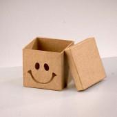 "Коробка ""Смайлик"" из папье-маше - заготовка, 7,5х7,5х7 см, арт. 2634274, EFCO"