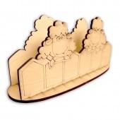 """Салфетница деревянная """"Овечки"""" – заготовка для декора, арт. 141598, 17х6,2х8 см"""