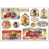 """Бумага рисовая для декупажа Stamperia DFS298 """"Винтажные игрушки 1"""", 48х33 см"""