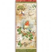 """Бумага рисовая для декупажа Stamperia DFS304L """"Рождественские цветы и поэзия"""", 24х60 см"""
