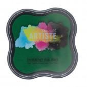Штемпельная подушка ARTISTE пигментная DOA550101 зелёная, DOCRAFTS, 7х7 см