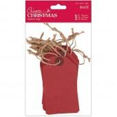 Бирки декоративные красные, 20 шт., 6,3х11,3 см, арт. PMA174303, DOCRAFTS