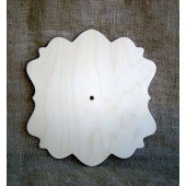 Заготовка для часов деревянная фигурная, арт. 111-2.16, WOODBOX, 26,4х27,8 см