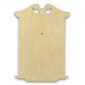 """Заготовка для часов деревянная фигурная """"Классика 2"""", КСФ-54-06-33, фанера 6 мм, 33х23 см"""