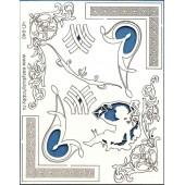"Декоративный чипборд картонный ЧП-040 ""Уголки 3"", 15х19 см, EASY BUSY"