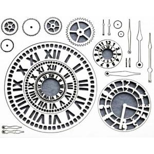 "Декоративный чипборд картонный ЧП-052 ""Часы 1"", 15х19 см, EASY BUSY"
