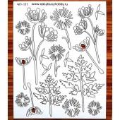 """Декоративный чипборд картонный ЧП-111 """"Полевые цветы 2"""", 15х19 см, EASY BUSY"""