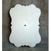 Заготовка для часов деревянная фигурная, 22х30 см, фанера 6 мм, 111-1.8, WOODBOX